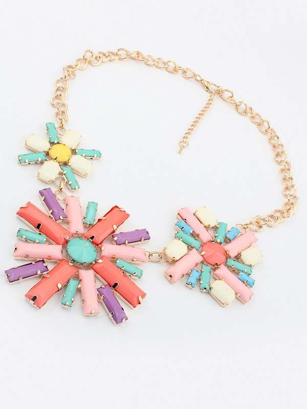 Occident Hyperbolic Colorful Flowers Hot Sale Necklace